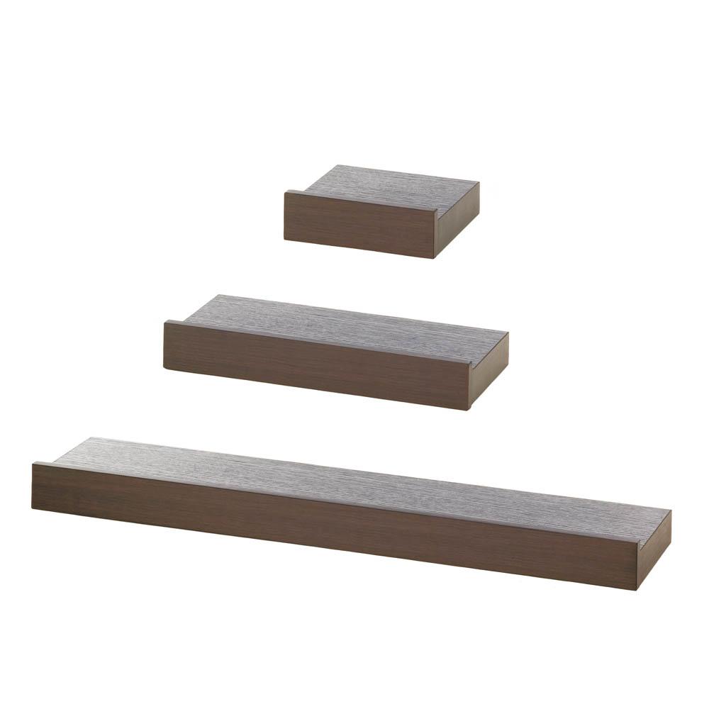 Decorative Wall Shelves Espresso : Espresso floating wall shelves etc papers
