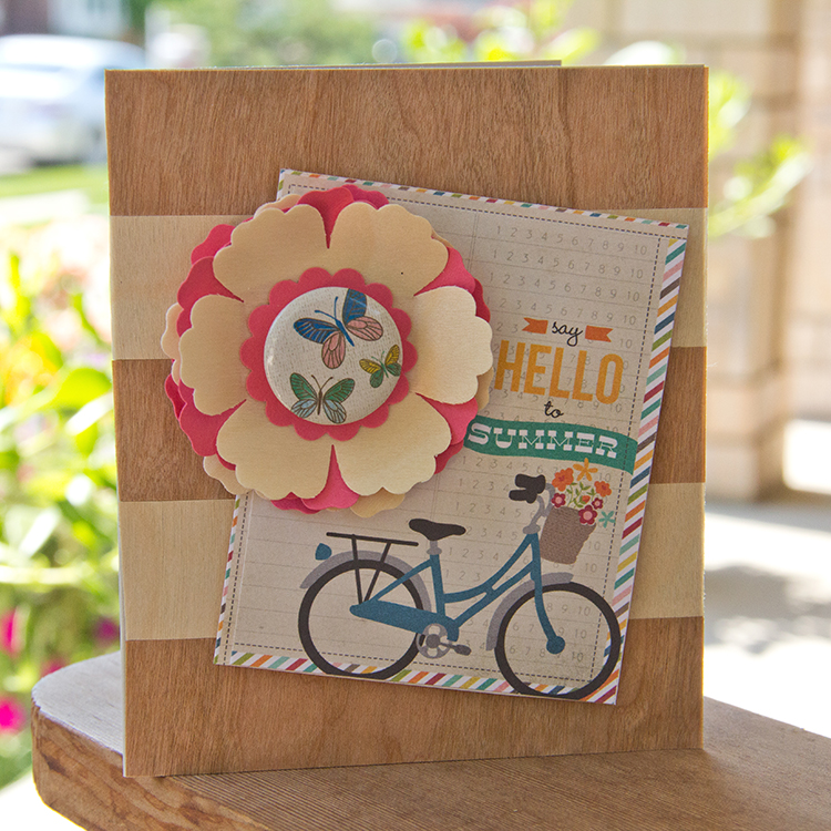 Hello to Summer Card using Real Wood - Etc Papers