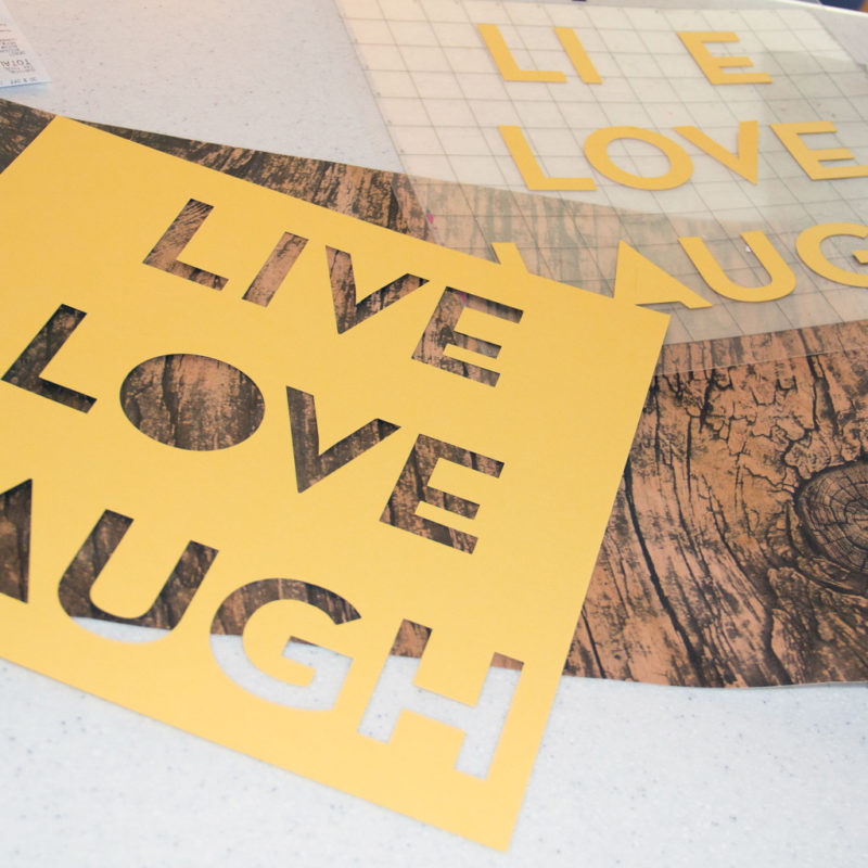 Real Wood Wall Art - Live, Love, Laugh - Etc Papers