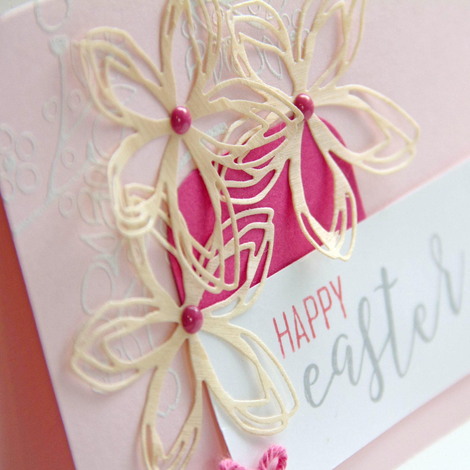 Spring Birch Wood Embellishments - treat and handmade card - Etc Papers